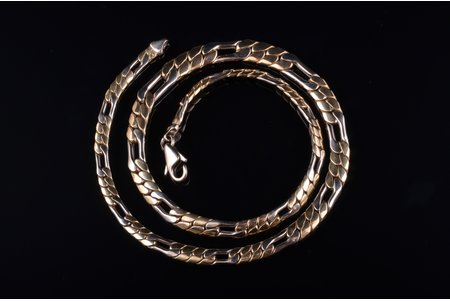 a chain, gold, 585 standart, 16.85 g., the item's dimensions 42 cm, Finland