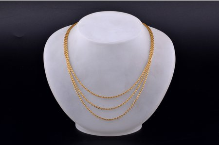 a chain, gold, 12.90 g., the item's dimensions 44 cm, Finland