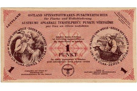 1 punkt, banknote, 1945, Latvia, Germany, XF