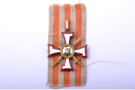 order, the Order of the Bearslayer, № 1139, 3rd class, Latvia, 20-30ies of 20th cent., traces of restoration