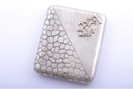 cigarette case, silver, 84 standart, engraving, 1893, 129.60 g, by Futikin Ivan Ivanovich, Moscow, Russia, 9 x 7.7 x 1.5 cm