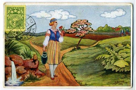postcard, Latvia, 20-30ties of 20th cent., 14,4x9,5 cm
