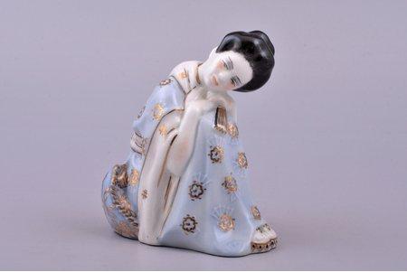 figurine, Chio Chio San, porcelain, Riga (Latvia), USSR, Riga porcelain factory, molder - Rimma Pancehovskaya, the 50ies of 20th cent., 9.6 cm, first grade