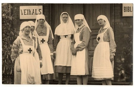 photography, nurses, Latvia, 20-30ties of 20th cent., 8.6 x 13.6 cm