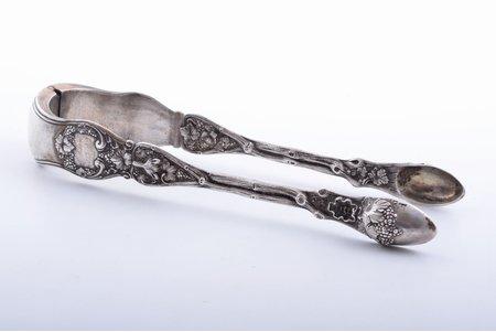 щипчики для сахара, серебро, 84 проба, 1844 г., 131.10 г, Российская империя, 17.5 см