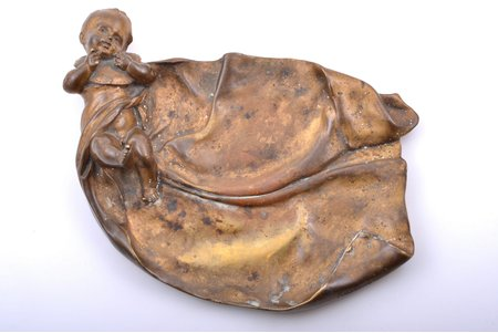 tray, bronze, 27.5 x 20 cm, weight 2300 g., Henryk Kossowski