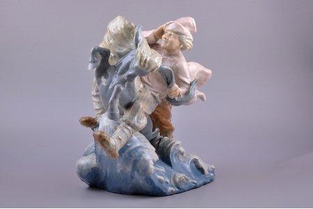 statuete, Ivanuška uz zirga, porcelāns, Rīga (Latvija), autordarbs, h 28 cm, restaurēta labā priekškāja