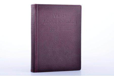"""""""Valsts adresu kalendārs 1939. gadam"""", Astoņpadsmitais gads, compiled by A. Maldups, 1939, Valsts statistikas pārvaldes izdevums, Riga, XV, 598 pages, stamps, 17.5 x 12.6 cm"""