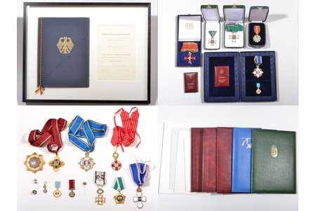 set of awards and documents, awarded to the longest serving president of UEFA (1990.—2007.) and Vice-president of FIFA Lennart Johansson