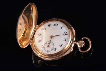 карманные часы, Швейцария, золото, 14 K проба, 32.79 г, 4.3 x 3.6 см, 36 мм