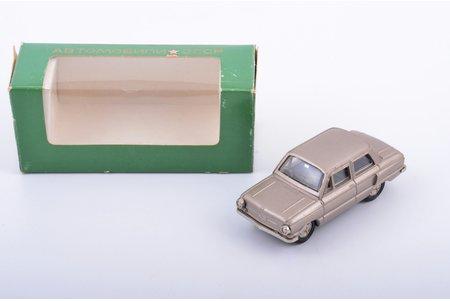 car model, ZAZ 968 Zaporozhets Nr. А16, L-type springs, metal, USSR, ~ 1989