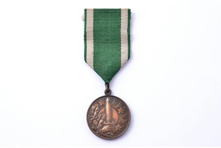 medal, Aizsargi (Defenders), For diligence, Latvia, 20-30ies of 20th cent., 32.4 x 28.2 mm