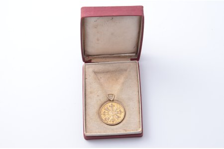 medal, medal of honour of the Order of Vesthardus, silver, Latvia, 20-30ies of 20th cent., in a case