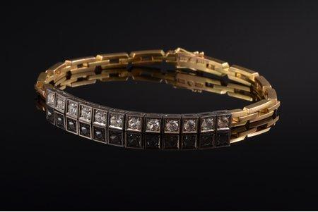 a bracelet, gold, 18 k standart, 18.45 g., Sweden, bracelet lenghth 17.4 cm