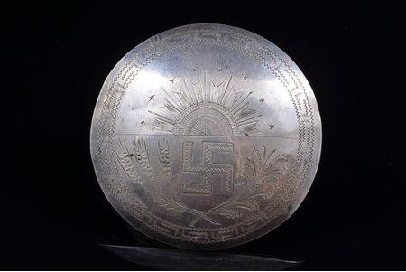 sakta, silver, 875 standart, 18.47 g., the item's dimensions Ø 6.8 cm, the 30ties of 20th cent., Latvia