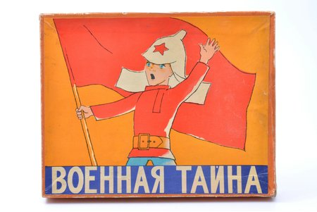 "Table game, ""Military secret"", USSR, 1976, 23 x 29 x 3 cm, publisher ""Малыш"""