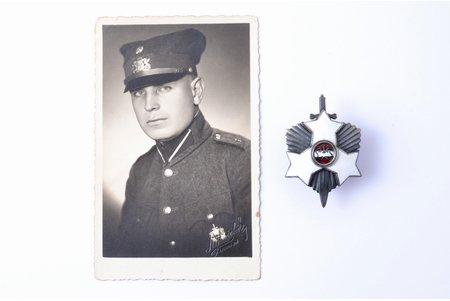 знак, фотография, 1-й Лиепайский пехотный полк, серебро, Латвия, 20е-30е годы 20го века, 56.6 x 38.3 мм