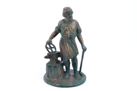 """figurine, """"Blacksmith"""", bronze, h 11.8 cm, weight 590.05 g."""