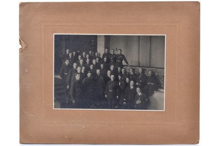 photography, a group of soldiers, Red Army, on cardboard, USSR, 20-30ties of 20th cent., 13.9 x 20.3 cm
