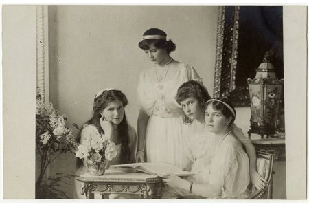 photography, Daughters of Emperor Nicholas II, Russia, beginning of 20th cent., 8.8 x 13.9 cm