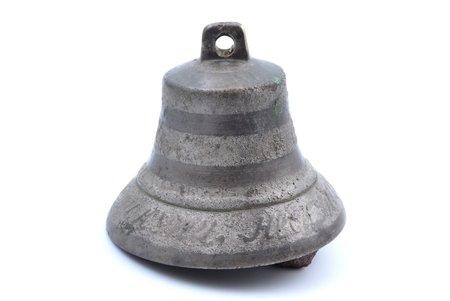 колокольчик, Валдай, бронза, 9 см, вес 534.5 г., Российская империя, 1861 г.