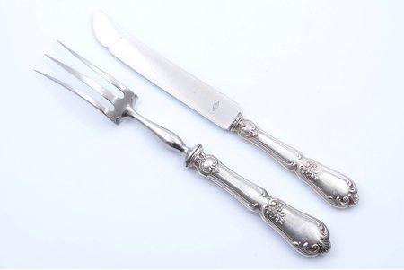 set of 2 flatware items, silver/metal, 950 standart, France, 27.7 - 26.3 cm