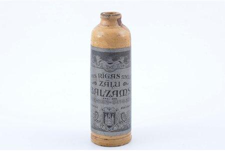 """бутылка, Рижский черный травяной бальзам, акционерное общество """"Ch. Jürgenson - Otto Scwarz"""", Латвия, 30-е годы 20го века, h 15 см"""