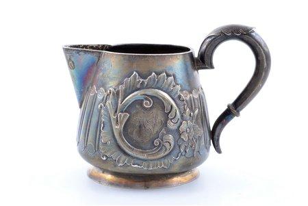 cream jug, silver, 84 standart, 1880-1890, 178.70 g, Moscow, Russia, h 8.6 cm