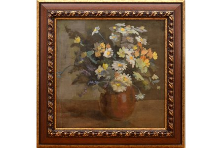 "Vecozols Imants (1933), ""Flowers"", canvas, oil, 50 x 50 cm"