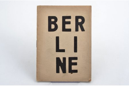 "Linards Laicens, ""Berlīne"", 1924, ""Promets"", Riga, 14 pages, 16.5х12 cm"