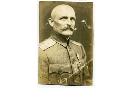 photography, Lieutenant General Tiselnikov (?), Russia, beginning of 20th cent., 13,5x8,6 cm