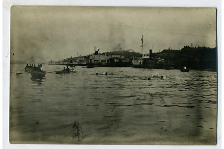 photography, swimmers, Russia, beginning of 20th cent., 13,6x8,6 cm