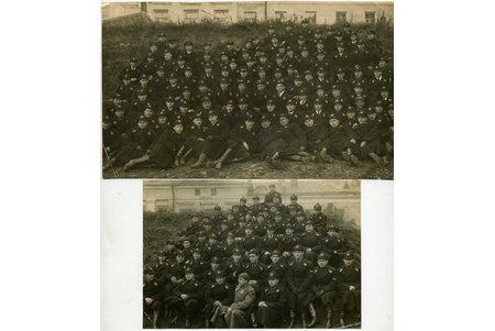 photography, 2 pcs., Aviation school, USSR, 20-30ties of 20th cent., 21,5x13, 16x11 cm
