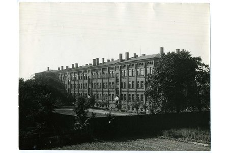 photography, Riga, barracks of Electrotechnical division on Miera street, Latvia, 20-30ties of 20th cent., 23,3x18 cm