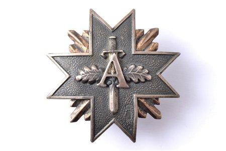 badge, Aizsargi (Defenders), № 2903, silver, 875 standart, Latvia, 20-30ies of 20th cent., 48.5 x 48.5 mm, silver nut