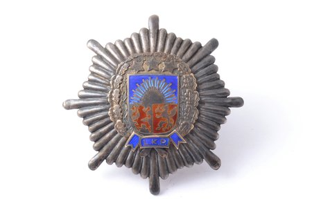 badge, LKP, Liepāja military administration, Latvia, 20-30ies of 20th cent., 51.5 x 51.3 mm