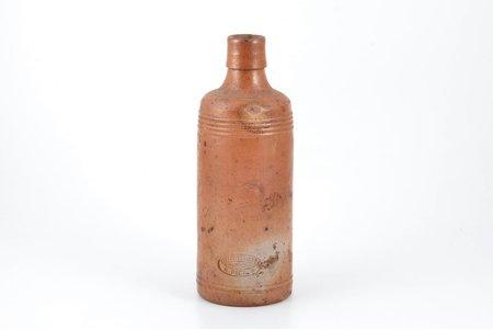"""balazāma pudele, """"Керковиусъ и комп."""", Rīga, keramika, Latvija, Krievijas impērija, 20. gs. sākums, h 21 cm"""