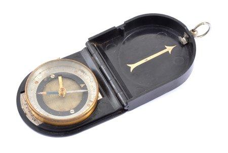 armijas kompass, kartēm, saliktā veidā 8 x 6.2 x 1.6 cm
