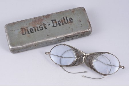 glasses, Dienst-Brille, Third Reich, Germany, the 30-40ties of 20th cent., in a case