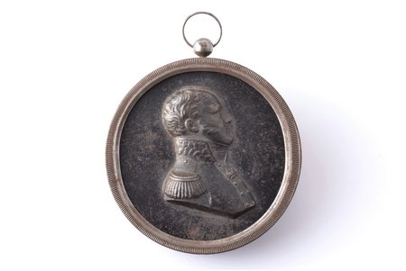 wall medallion, Alexander I, Ø 8.3 cm, weight 85.45 g.