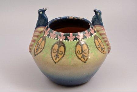 vase, ceramics, Latvia, the 20-30ties of 20th cent., h 15.4 cm
