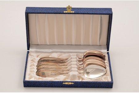 deserta karošu komplekts, sudrabs, 830 prove, izstrādājumu kopējais svars 153.80g, Somija, 16.4 cm, kastē