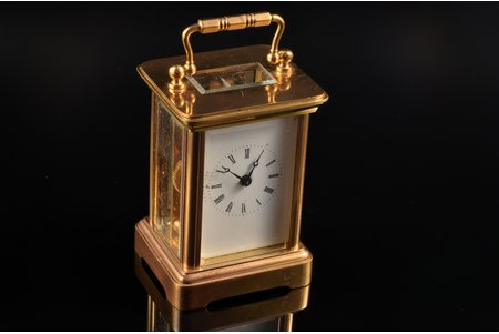 carriage clock, Switzerland, 10.5 x 5.7 x 5 cm, in working condition