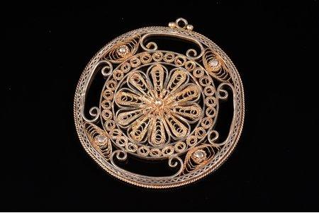 a pendant, silver, 925 standart, 9.80 g., the item's dimensions 4.9 x 4.6 cm