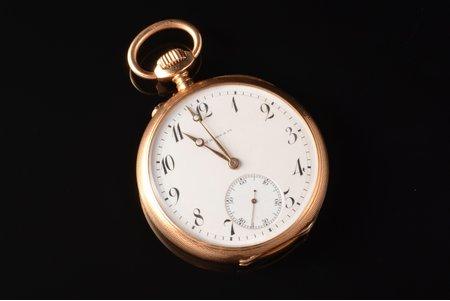 """карманные часы, """"H.Moser & Cie"""", Швейцария, золото, 56, 585 проба, 94.92 г, 6.3 x 5.2 см, 52 мм"""