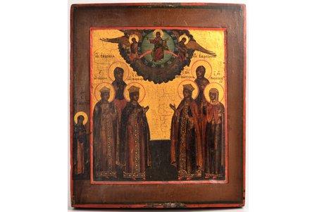 icon, Women Saints, board, painting, guilding, Russia, 31.2 x 26.6 x 3 cm