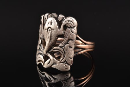 a ring, gold, silver, 830, 375 standart, 8.11 g., the size of the ring 20