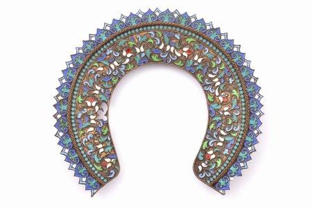a wreath, from icon oklad, cloisonne enamel, Russia, 13.5 x 15.1 cm