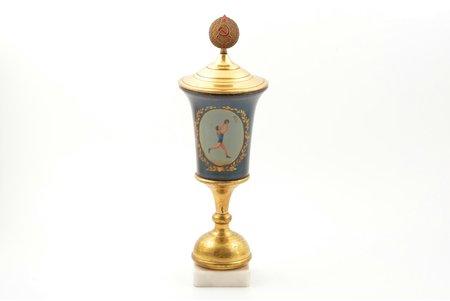 kauss, Basketbols, Paleha(?), PSRS, 1960 g., h 32.8 cm