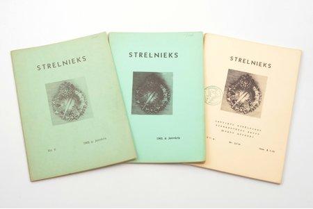 """Strēlnieks"", 3 žurnāli: Nr. 6 (1962), Nr. 7 (1963), Nr. 13/14 (1967), 1962-1967, New York, 30, 45, 78 pages, 24.5 x 17 cm"